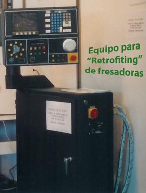 Equipo para retrofiting de fresadoras