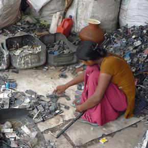 Reciclando en la India
