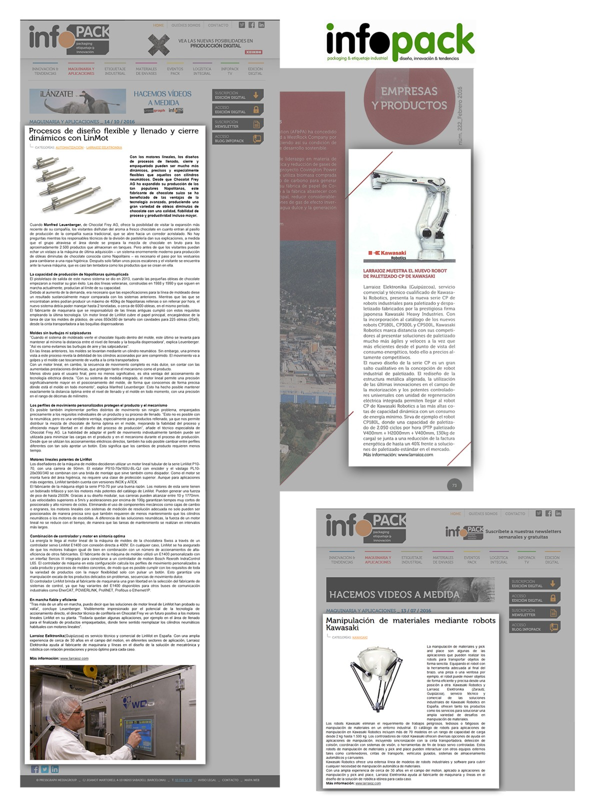 Cliping Larraioz Elektronika en Infopack 2016