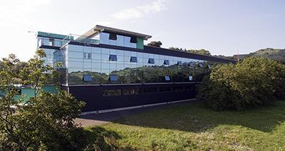 Vista dron Larraioz Elektronika Ikusmira FACT edificio