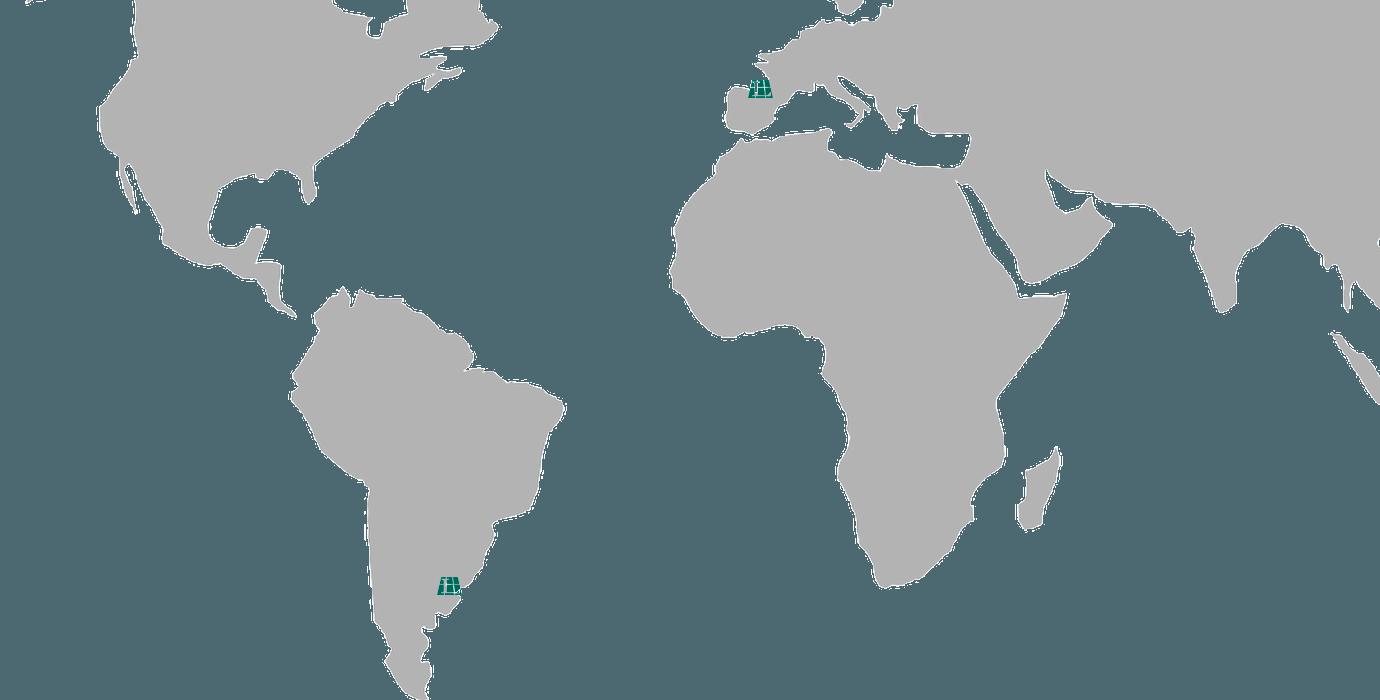 Mapa Larraioz Elektronika Mundo Argentina Latino América Euskadi