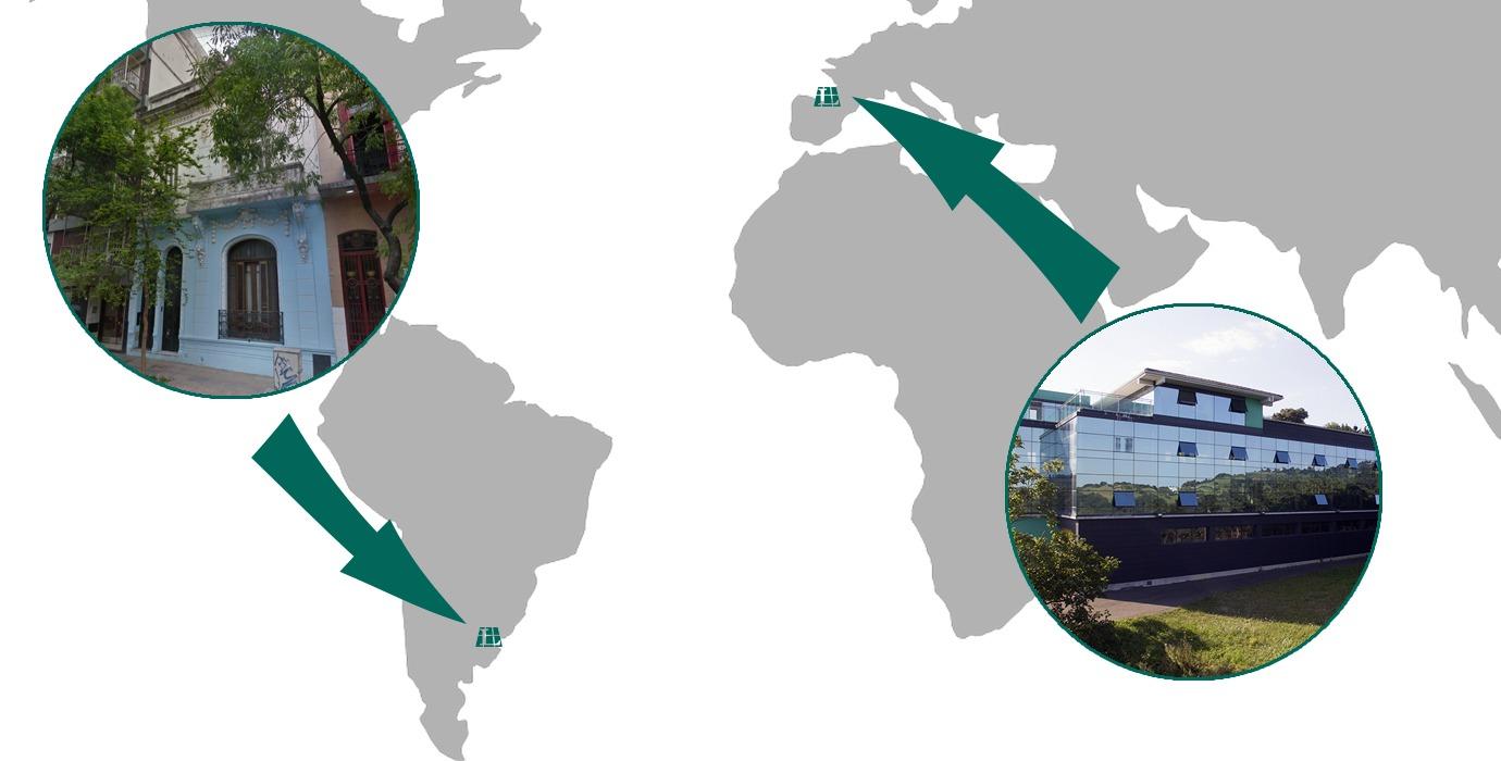 Mapa con edificios Larraioz Elektronika Argentina Gipuzkoa