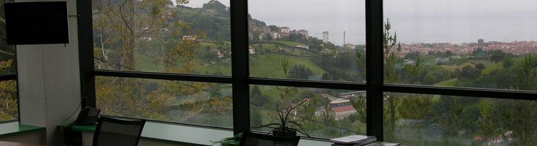 Vista de Zarautz desde las instalaciones de Larraioz Elektronika