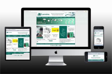 La nueva página web de Larraioz Elektronika cuenta con un diseño responsive