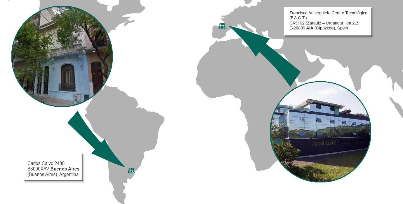 Larraioz Elektronika localizaciones mapa argentina aia