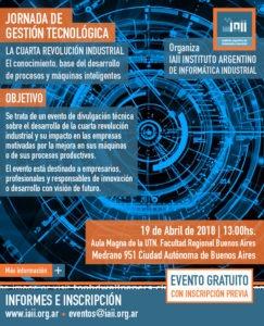 Cartel evento jornada tecnológica IAII Buenos Aires Larraioz Elektronika