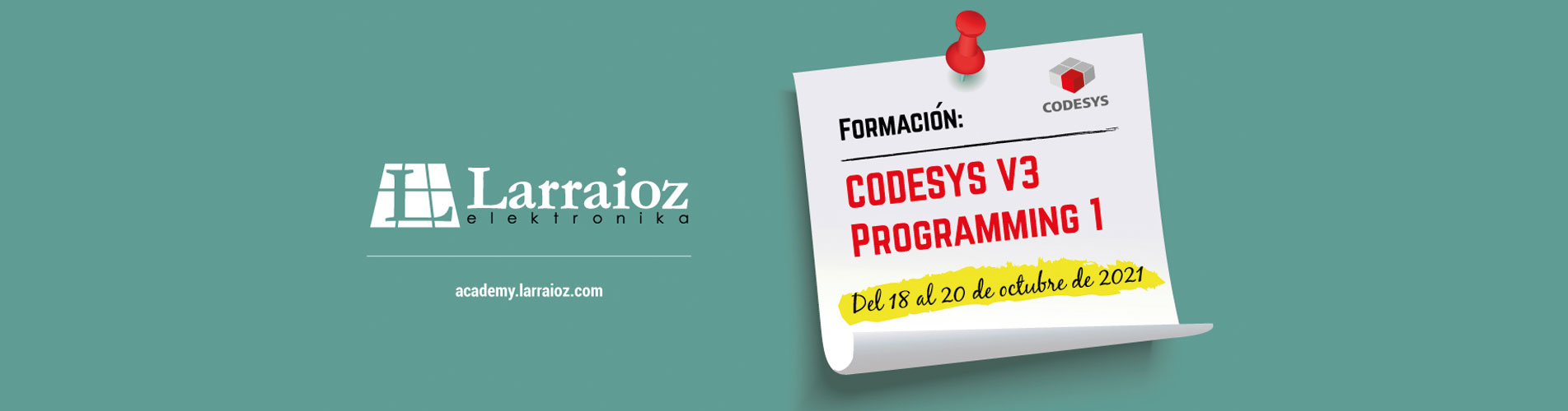 FORMACIÓN CODESYS PROGRAMMING 1 en Larraioz Elektronika