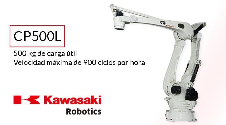 Robot Kawasaki CP500L robot paletizado más potente de su clase