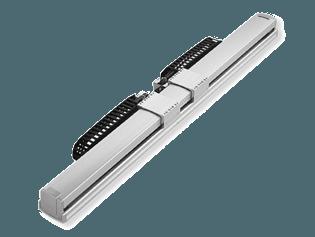 Actuadores eléctricos sin vástago con dos deslizaderas NS