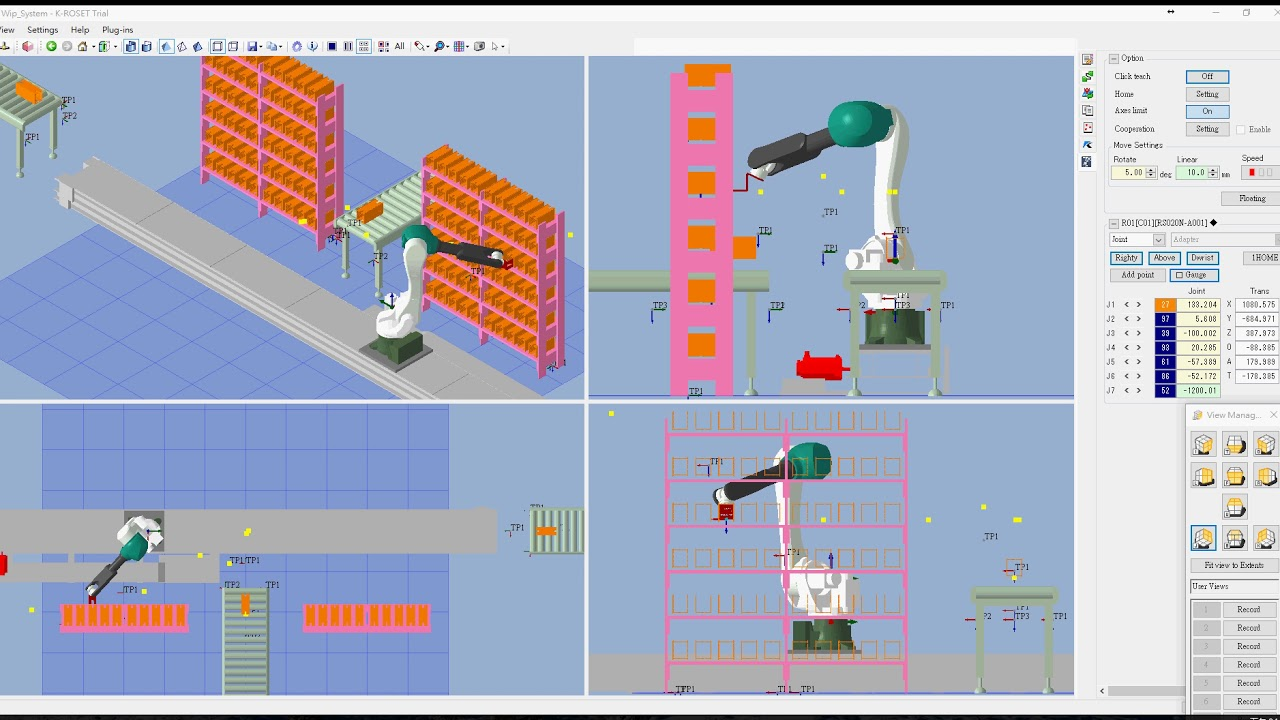 k-roset simulador kawasaki robotics robot
