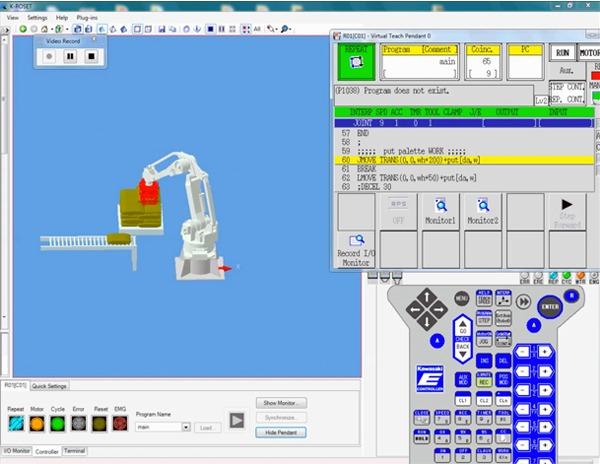 Software de simulación de robot K-Roset