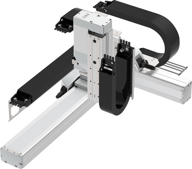 Robots cartesianos de 3 ejes XYZ en cantilever, eje Y sobre su base, eje Z de formato mesa