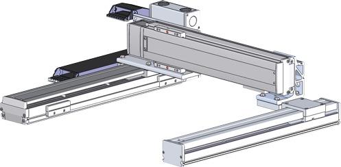 Robots cartesianos de 2 ejes XY en Gantry, eje Y ensamblado lateralmente