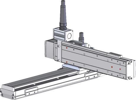 Robots cartesianos de 2 ejes XY en cantilever, eje Y sobre su deslizadera
