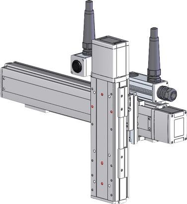 Robots cartesianos de 2 ejes YZ, eje Z sobre su deslizadera