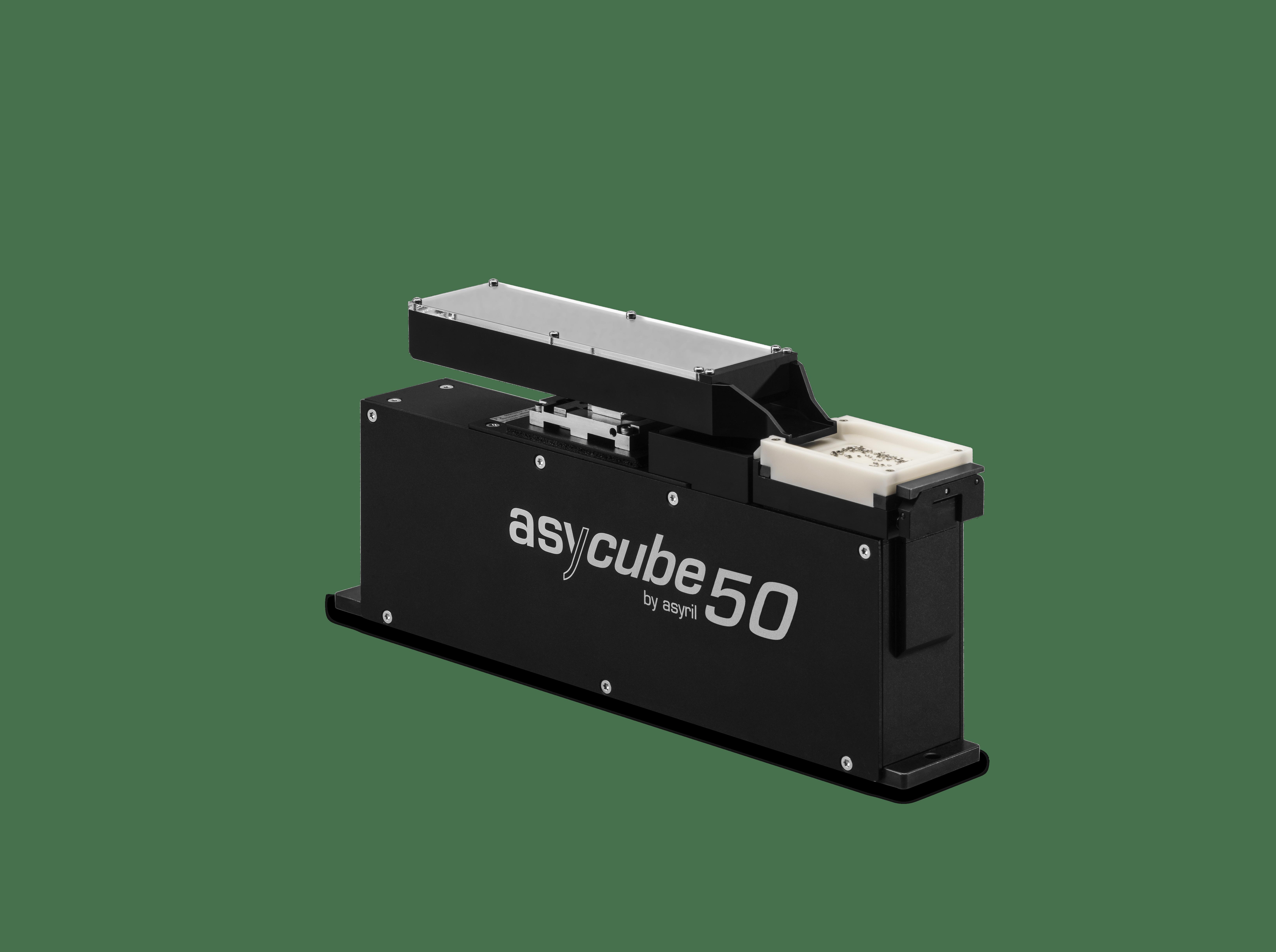 < 0.1 to 5 mm alimentación de piezas de alto rendimiento asyril asycube 50