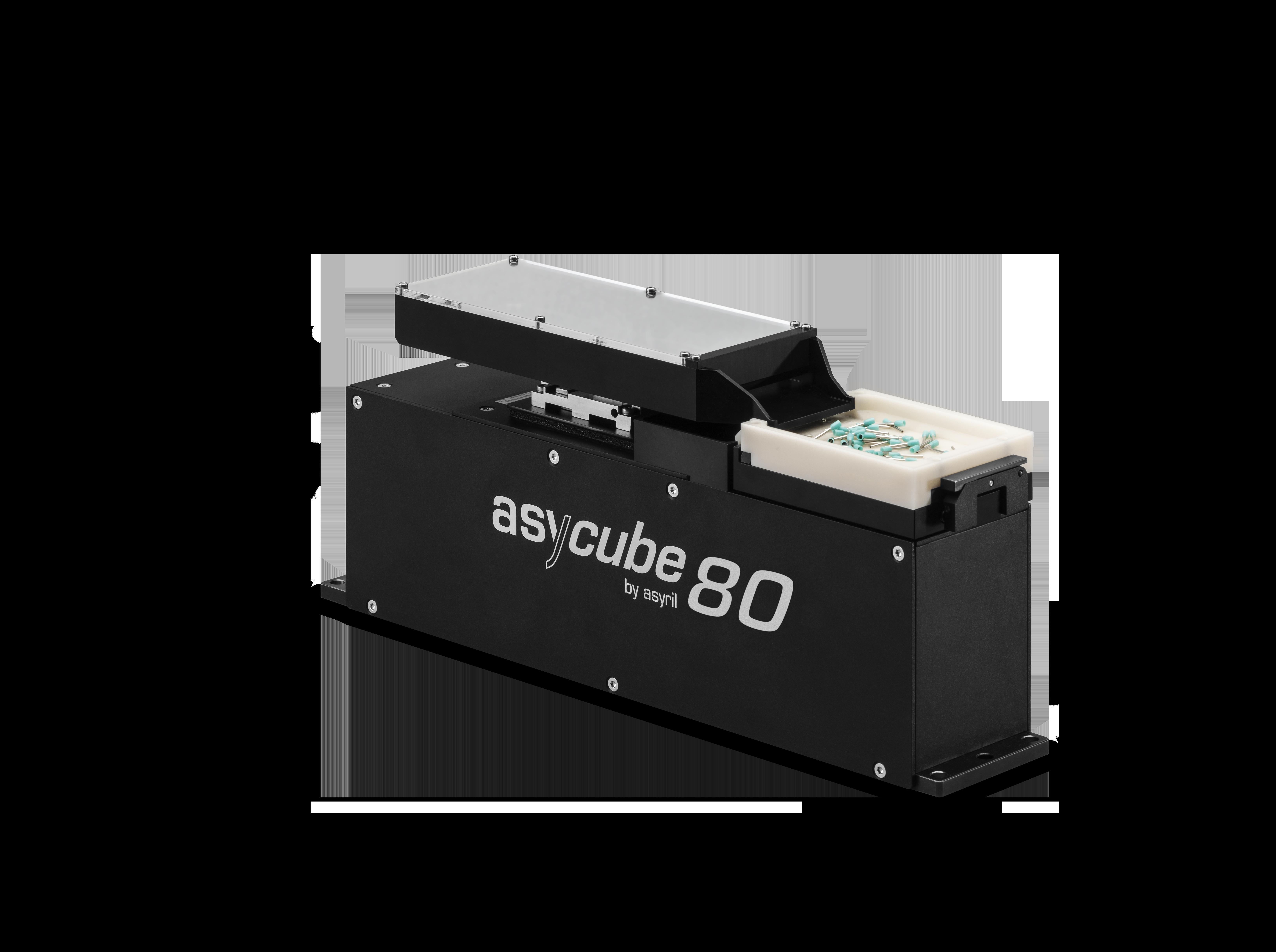 3 to 10 mm alimentación de piezas de alto rendimiento asyril asycube 80