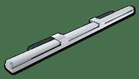 Actuadores eléctricos sin vástago con dos deslizaderas