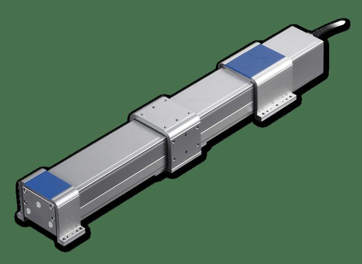 Actuadores eléctricos sin vástago con protección frente a polvo/a salpicaduras